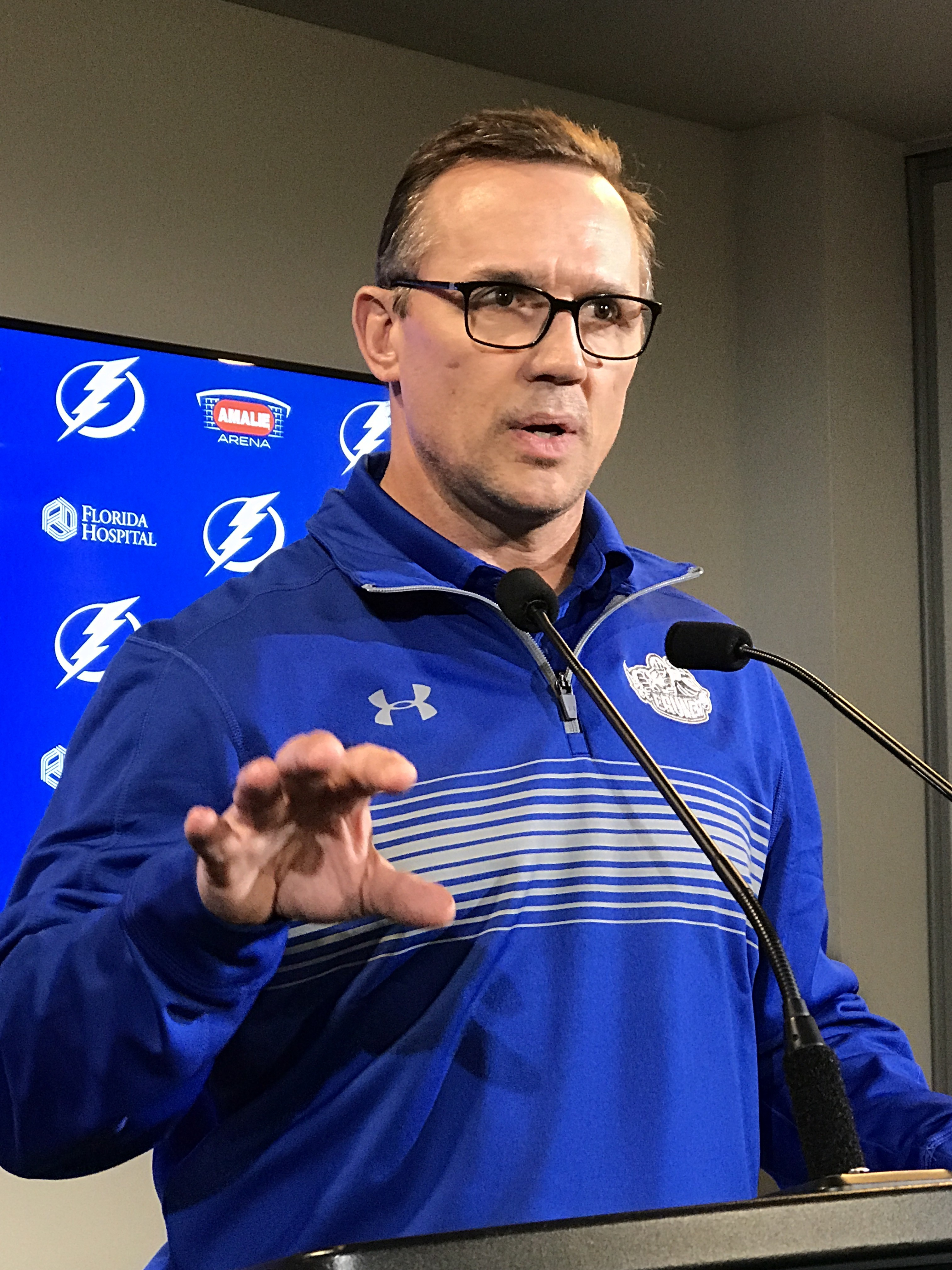 Yzerman has tried to beef up the Bolts' defense.
