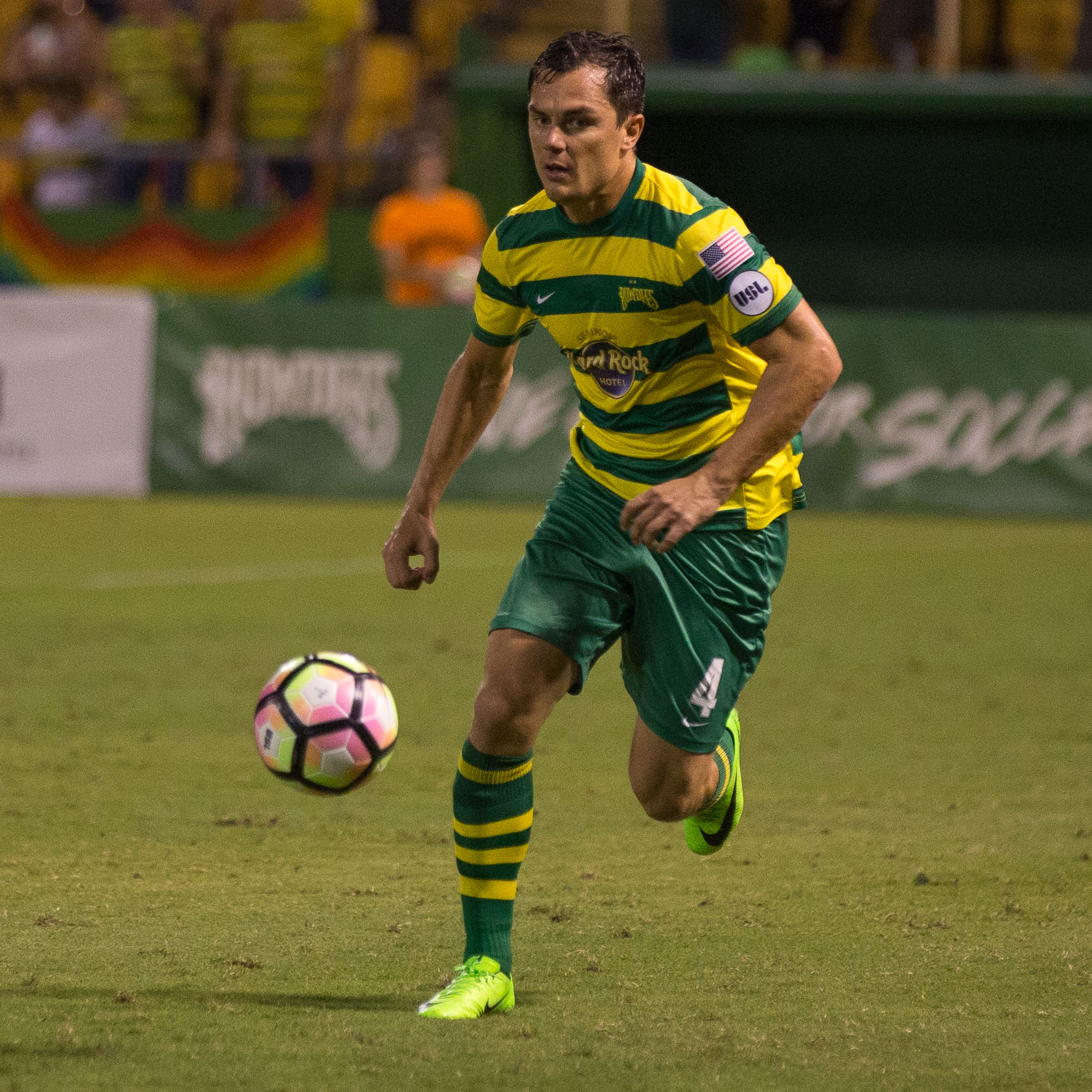 Marcel Schafer scored the Rowdies' only goal./STEVEN MUNCIE