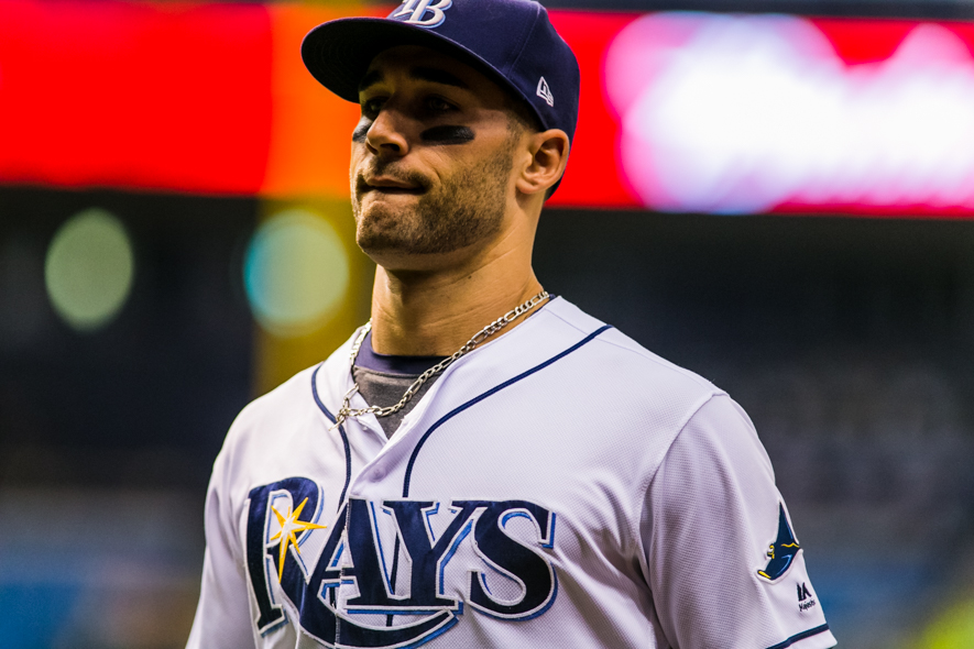 Kiermaier may miss time after jamming his hip./CARMEN MANDATO