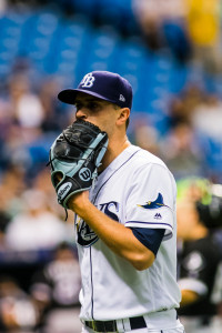 Odorizzi  lasted only 11 outs for the Rays./CARMEN MANDATO