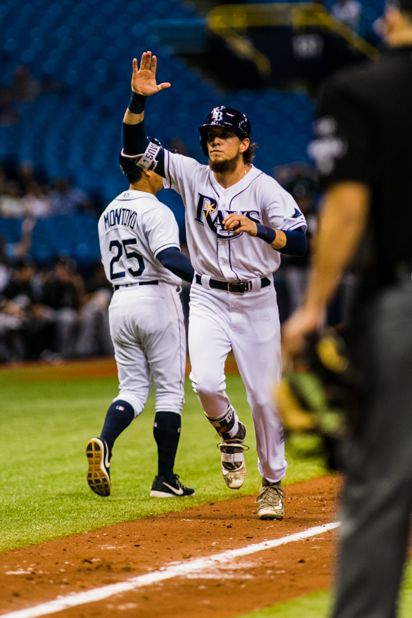 A homer by Rasmus gave the Rays a two-run cushion./CARMEN MANDATO