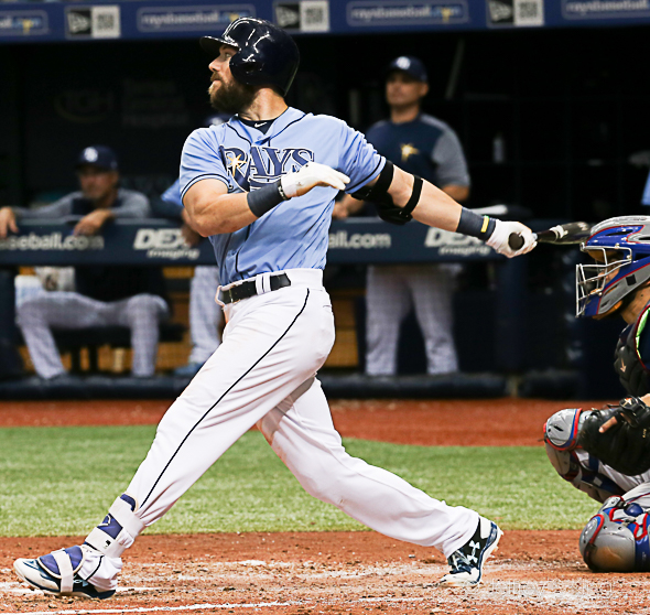 Souza hit 30 home runs for the Rays last season./JEFFREY S. KING
