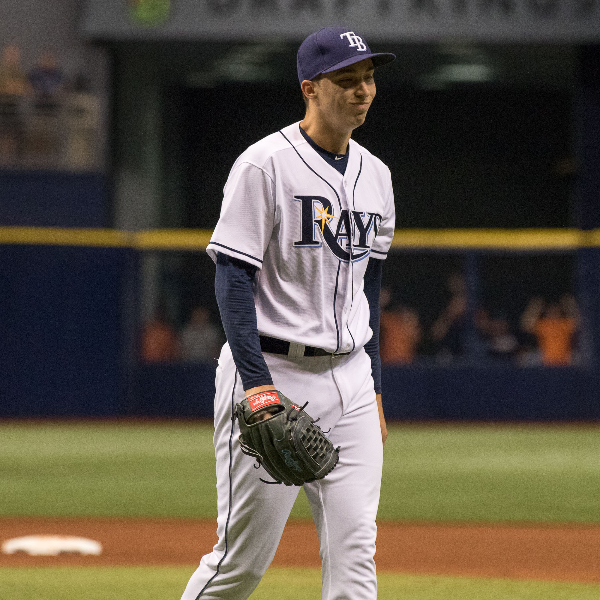 Blake Snell had his best start as a Ray but lost./STEVEN MUNCIE