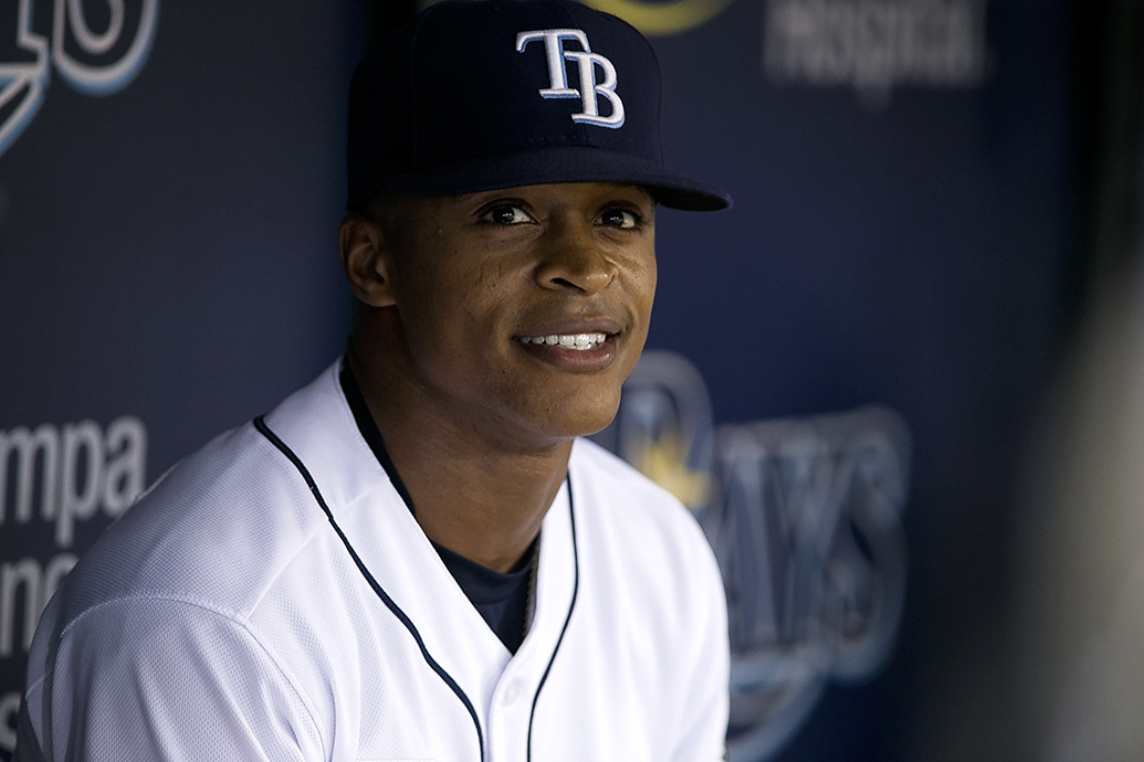Mallex Smith struck out four times for the Rays./CARMEN MANDATO