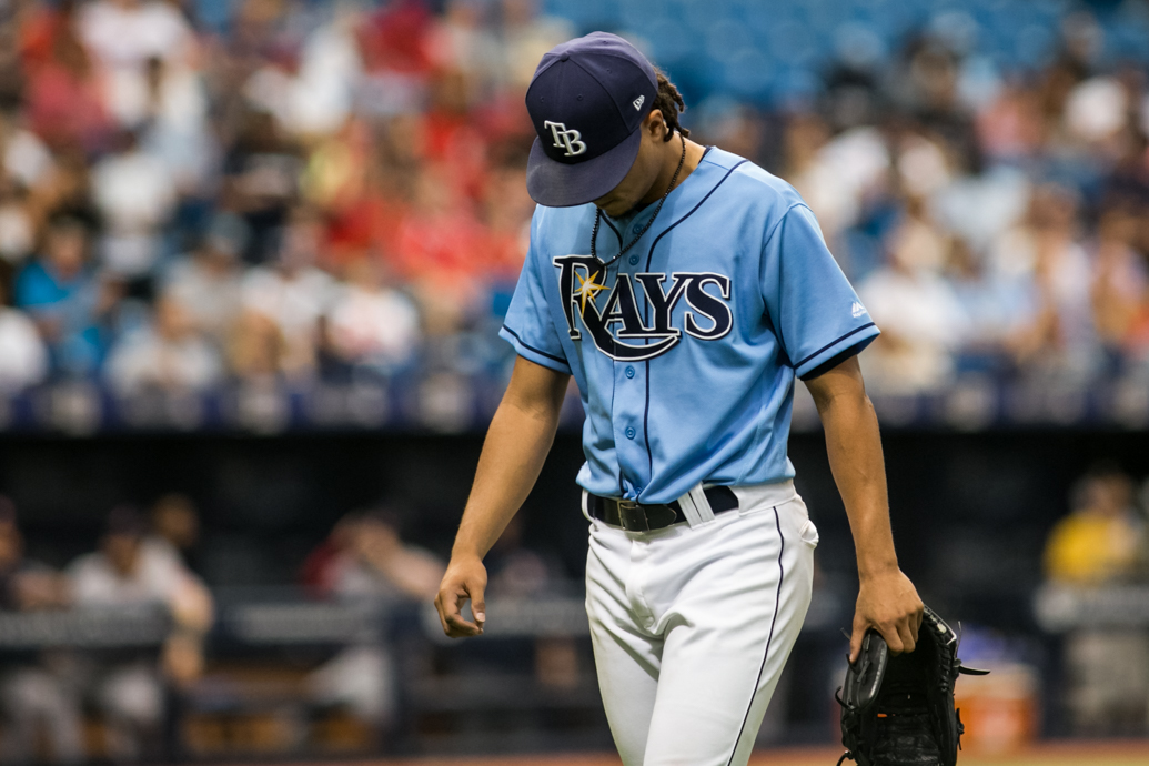Archer struck out 13 for Tampa Bay./CARMEN MANDATO