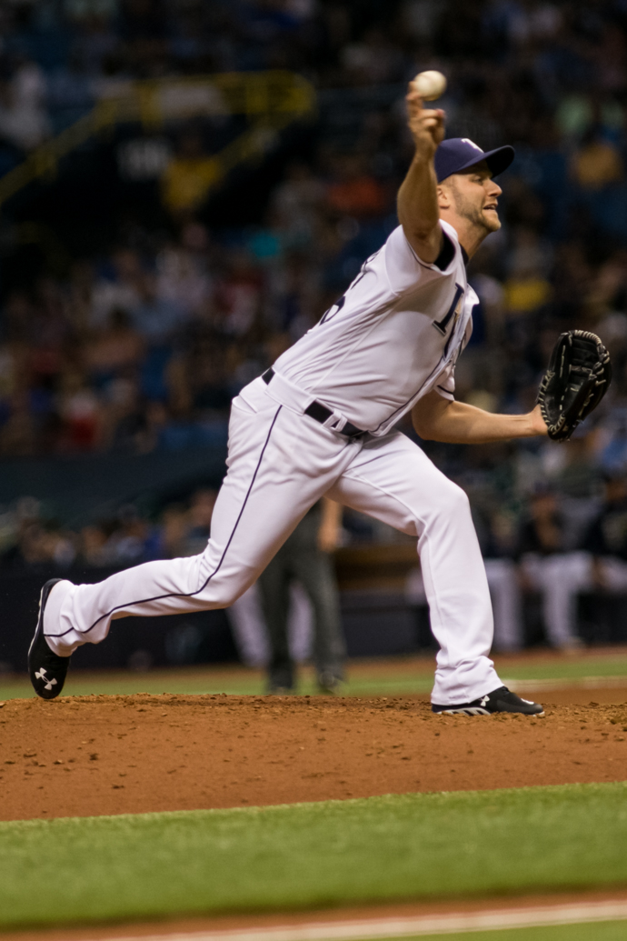 Boxberger pitched well again for the Rays. in getting the win./CARMEN MANDATO