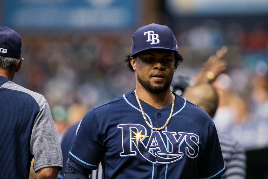 He was the Rays' seventh pitcher, but Alex Colome finally ended it./CARMEN MANDATO