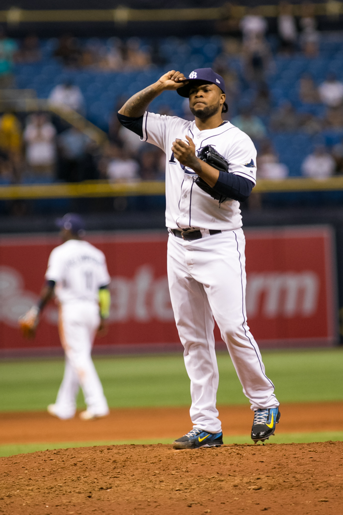 Colome had his 39th save for the Rays./CARMEN MANDATO