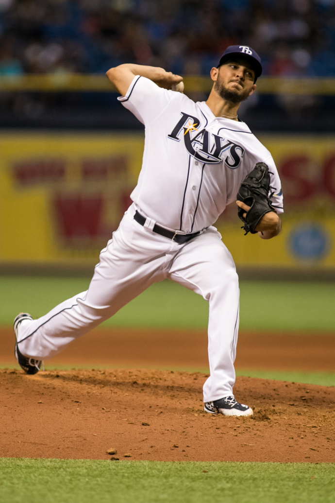Faria threw another quality win against Angels./CARMEN MANDATO