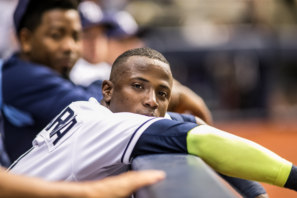 Hechavarria has shined at shortstop for the Rays./CARMEN MANDATO