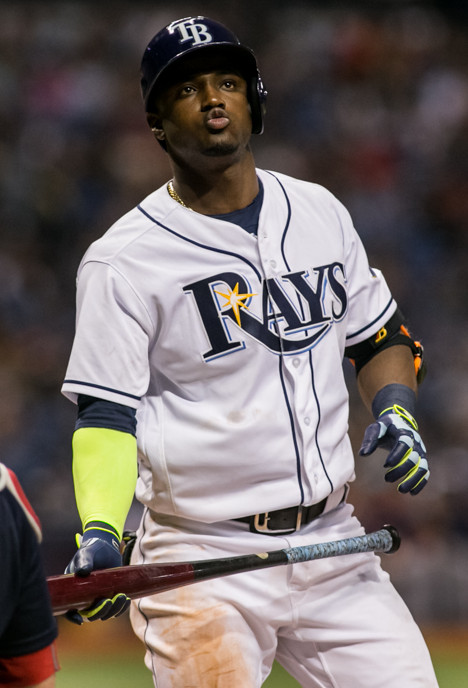 Hechevarria had three of the Rays' four hits./CAERMEN MANDATO