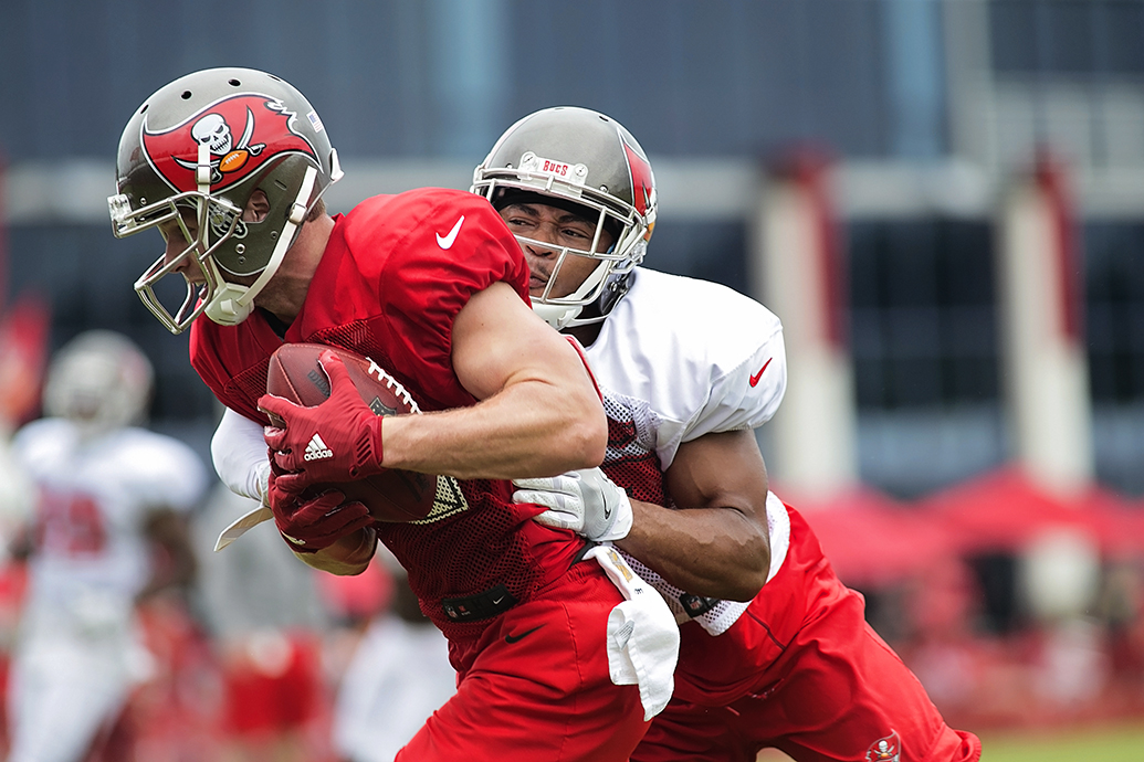 Will new receivers surpass Adam Humphries?/CARMEN MANDATO