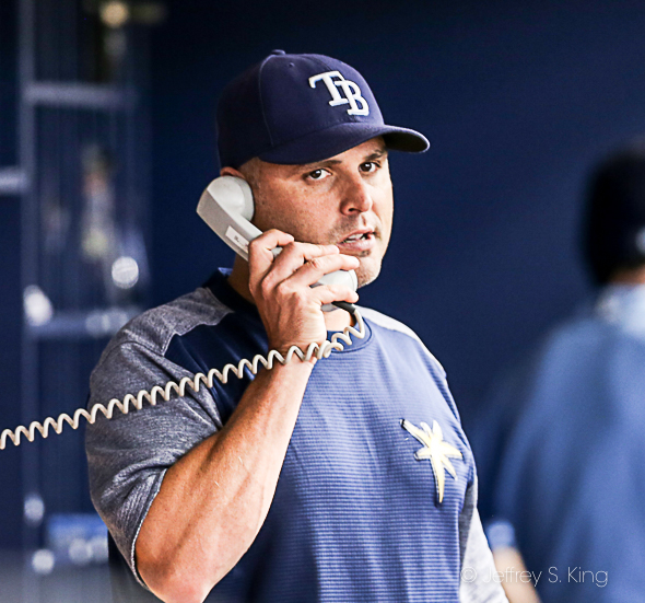 Who you gonna call? Cash needs to stop Rays' slump./JEFFREY S. KING