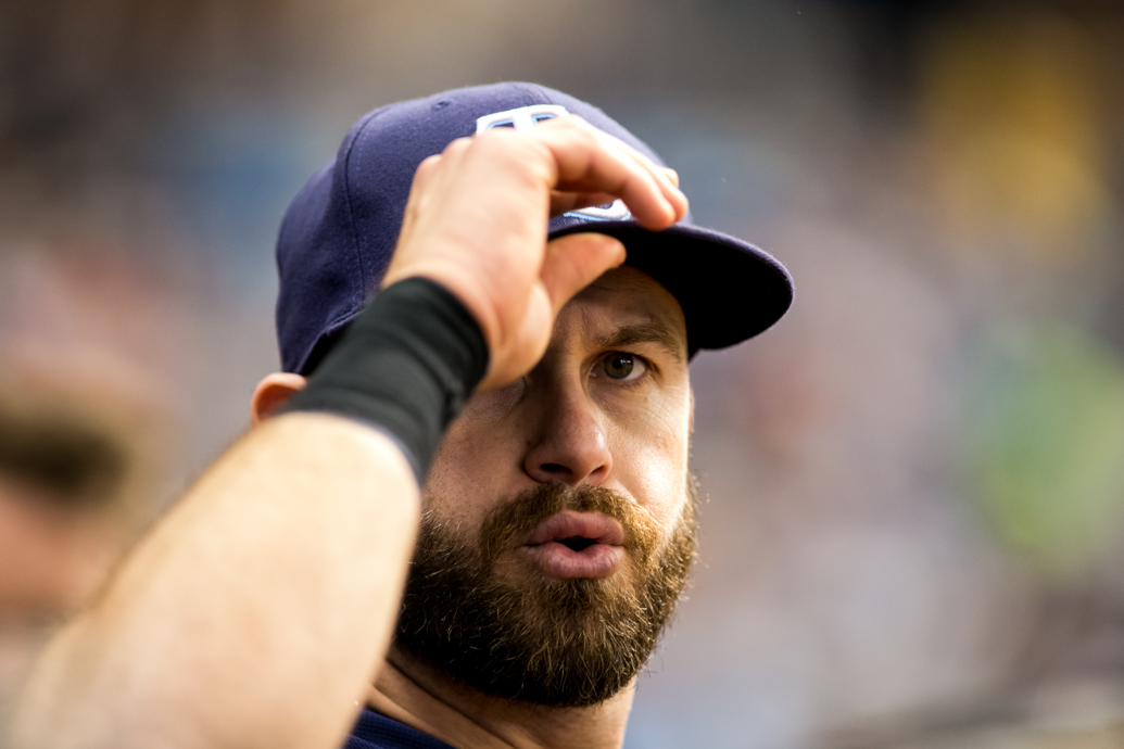 Longoria had half of the Rays' hits with a homer and a double./CARMEN MANDATO