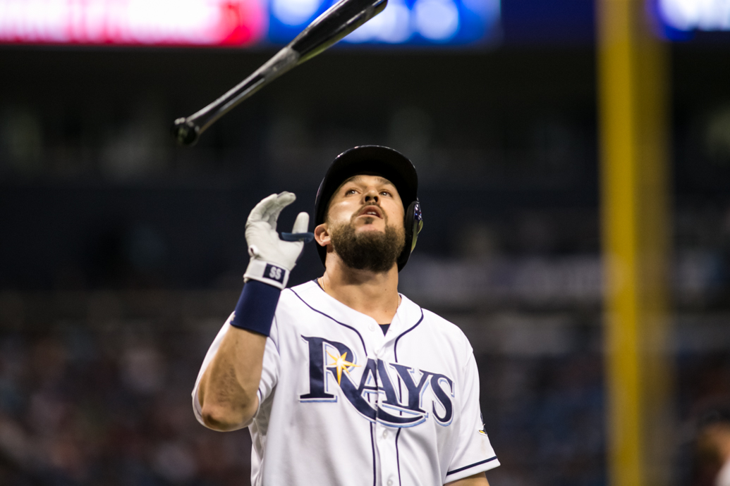 Plough had two hits for the Rays./CARMEN MANDATO