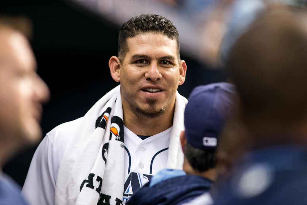 Ramos had three of the Rays' four hits./CARMEN MANDATO