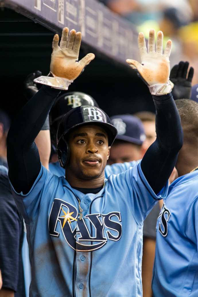 Mallex Smith's speed helped to tie Sunday's game./CARMEN MANDATO