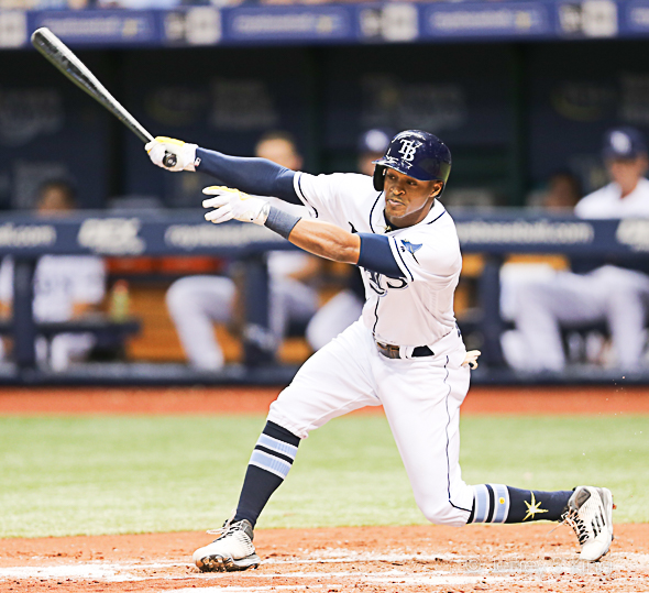 Mallex Smith drove in the only run in the 13th./JEFFREY S. KING