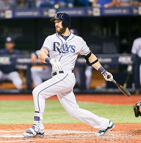 Souza hit his first home run   off a left-hander this year./jEFFREY S. KING