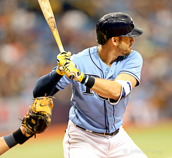 Longoria had a hit for the Rays./JEFFREY S. KING
