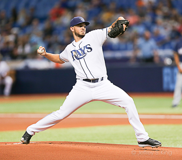 Faria had a quality start, but the Rays didn't get him any runs./JEFFREY S. KING
