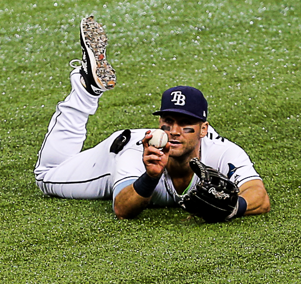 Kiermaier looked like a gold-glove winner./JEFFREY S. KING