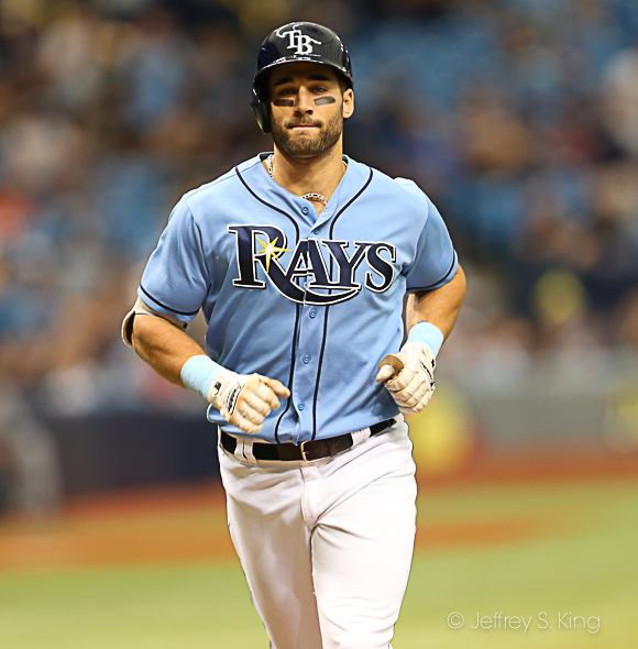 Kiermaier has been hot since his return./JEFFREY S. KING