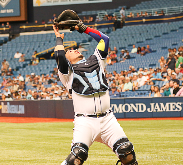 Sucre had two hits for the Rays./JEFFREY S. KING
