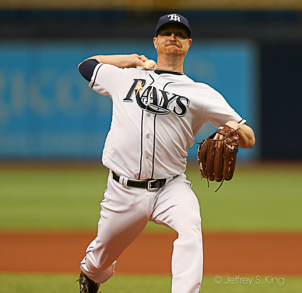 Cobb went only 4 1/3 innings, but allowed no runs./JEFFREY S. KING