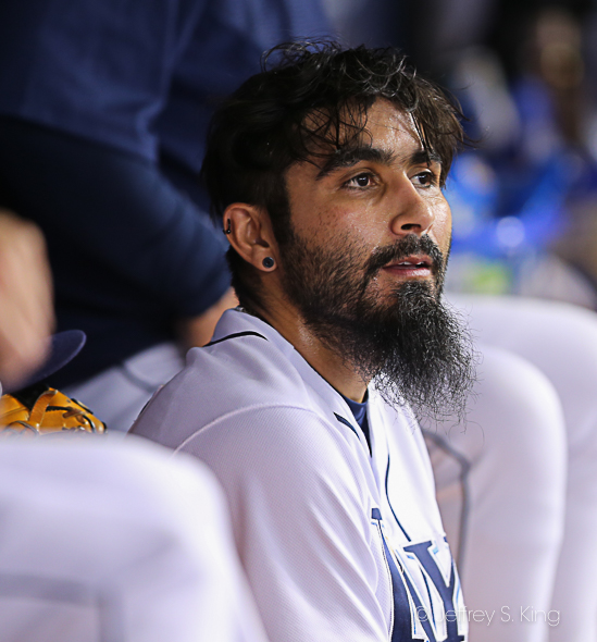Sergio Romo gave up a home run for the Rays./JEFFREY S. KING