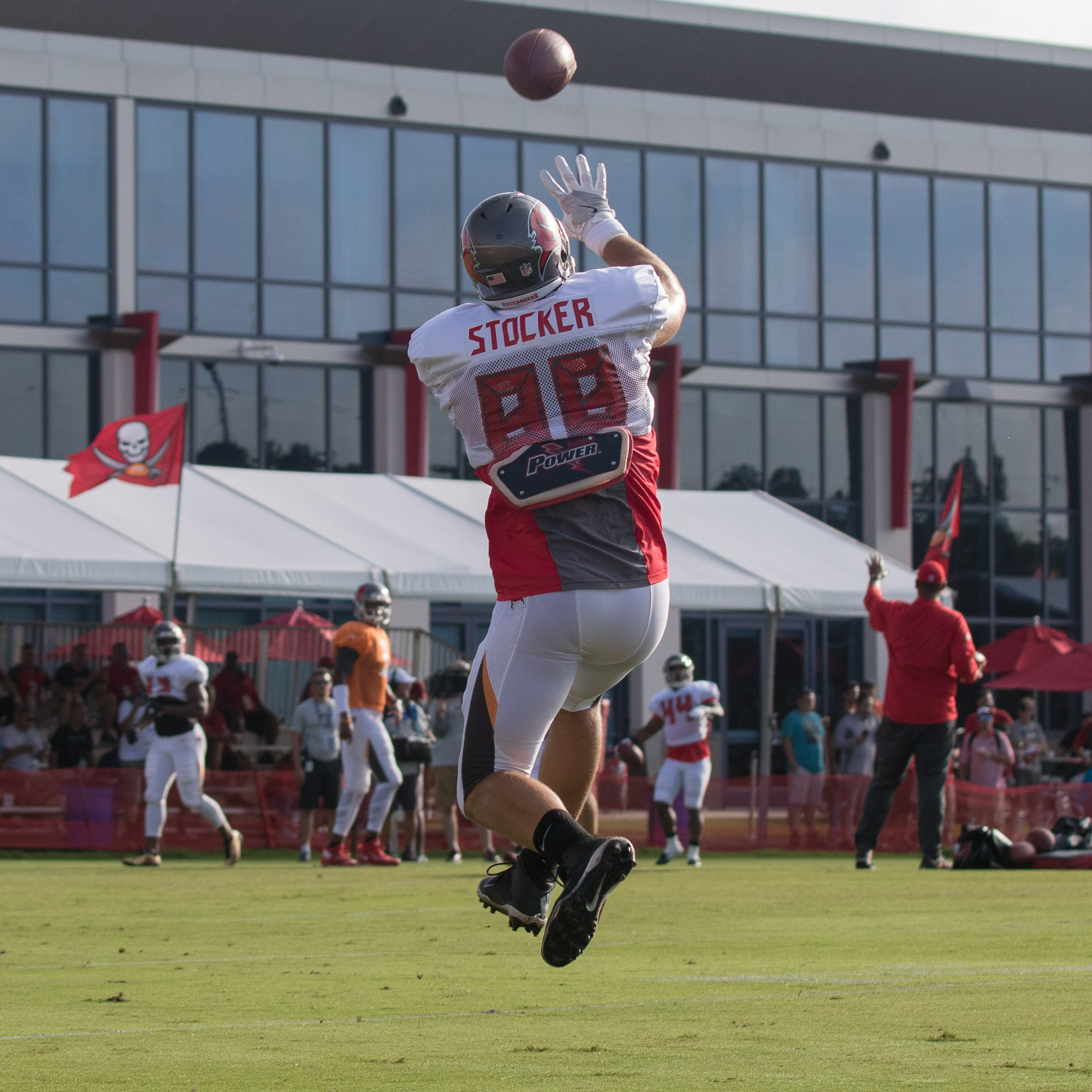 Stocker is the veteran of the Bucs' tight ends./STEVEN MUNCIE