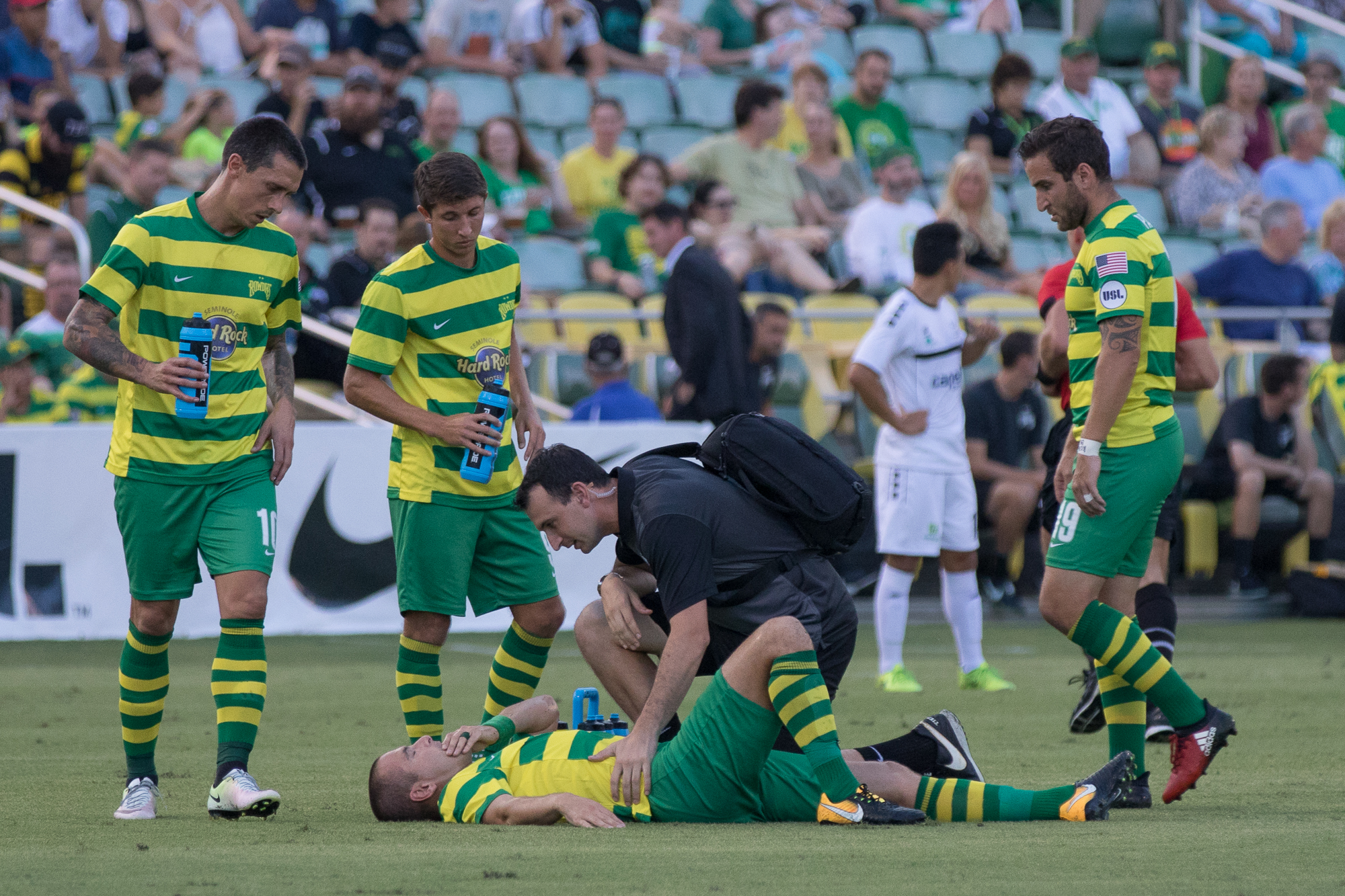 Captain Joe Cole was injured in the 7th minute./STEVEN MUNCIE