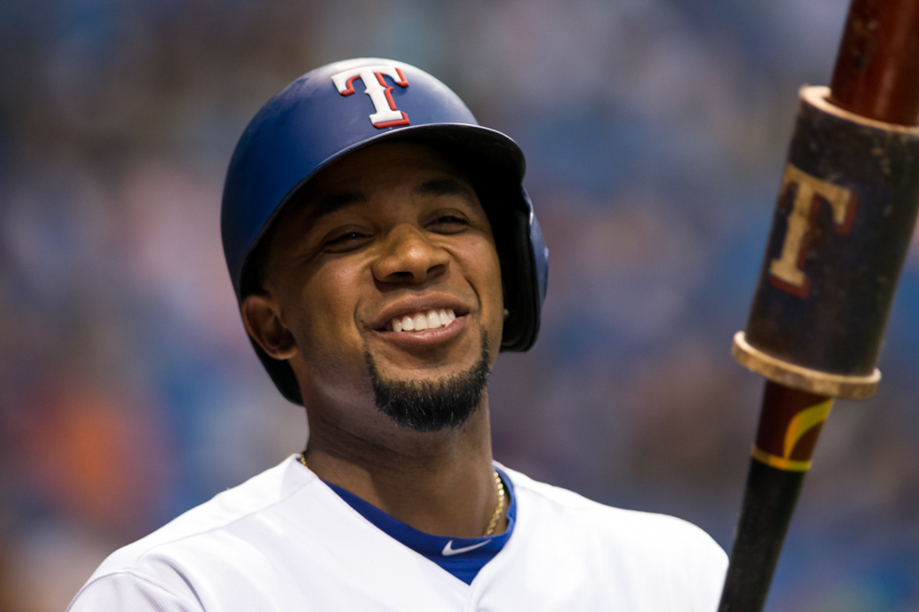 Andrus had four hits for the Rangers./CARMEN MANDATO