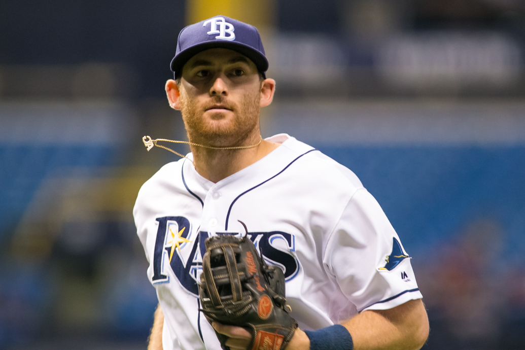 Miller hit a home run to lead the Rays./CARMEN MANDATO