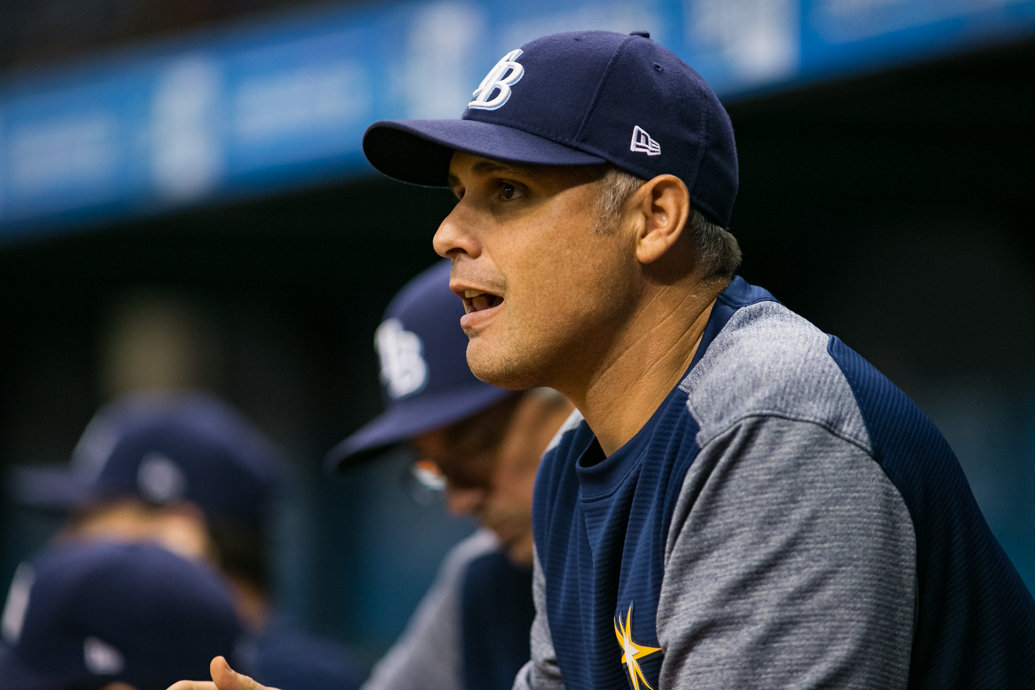 Cash is at a loss for words of the Rays' slump./CARMEN MANDATO