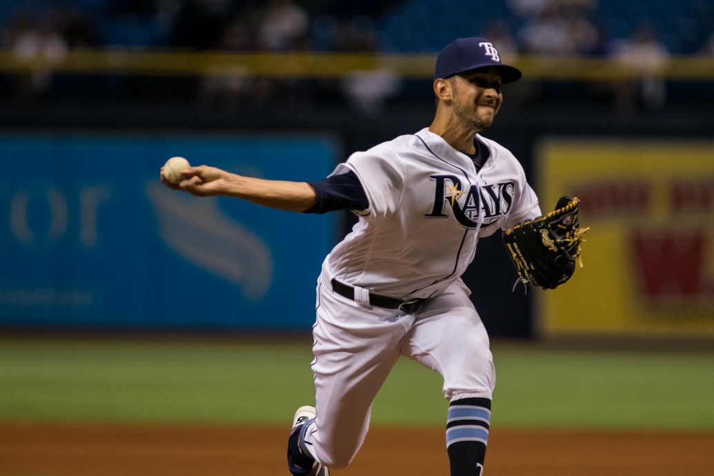 Cishek had his sixth scoreless appearance since joining the Rays./CARMEN MANDATO