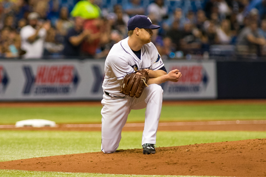 Cobb has been the Rays' best pitcher...barely. /CARMEN MANDATO