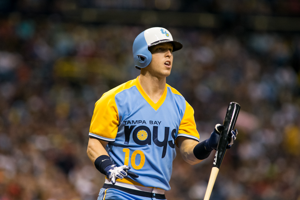 Dickerson went four-for-four to lead the Rays./CARMEN MANDATO