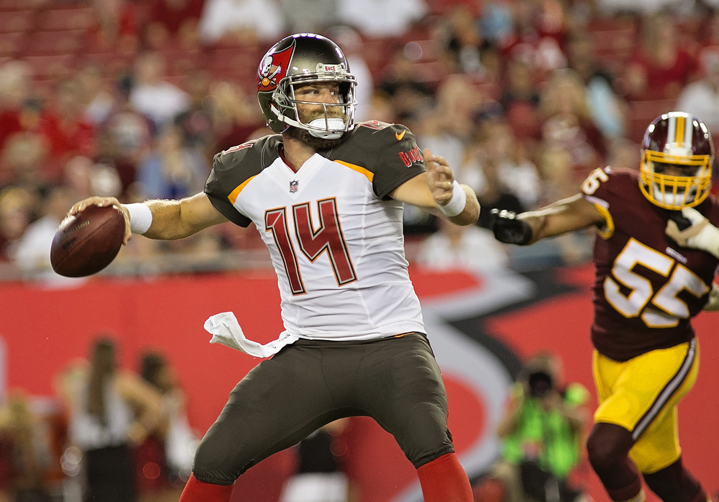 Fitzpatrick started well for the Bucs./CARMEN MANDATO