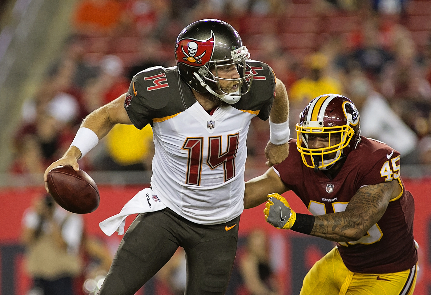 Fitzpatrick won two games for the Bucs in '17./CARMEN MANDATO