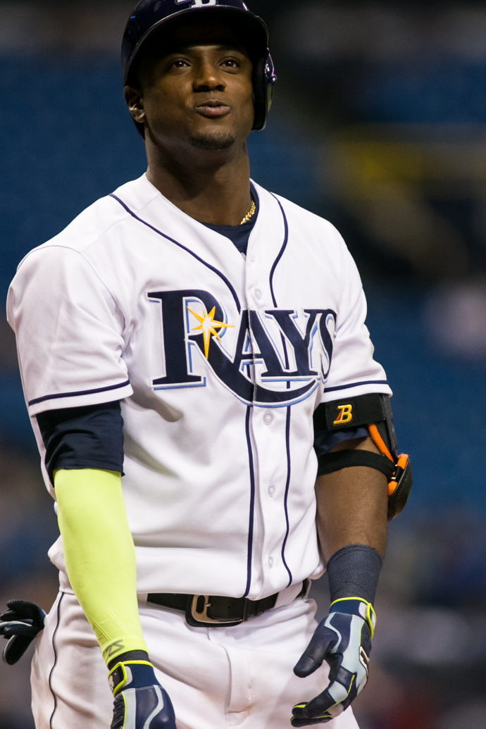 Hechavarria had two  hits in the Rays' win./CARMEN MANDATO