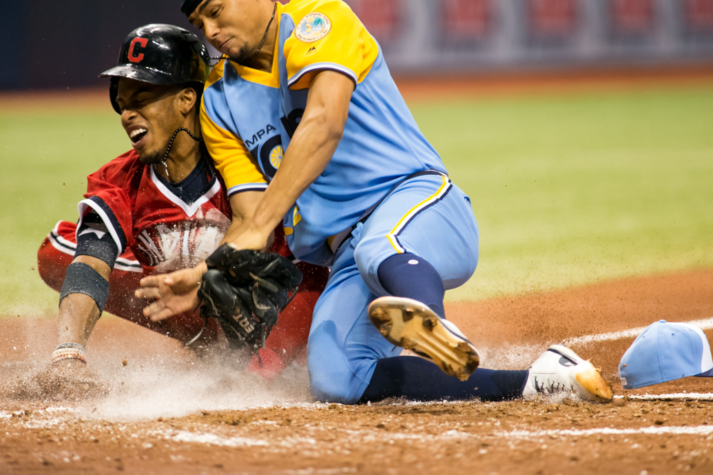 Indians ran their record to 7-0 against Rays../CARMEN MANDATO