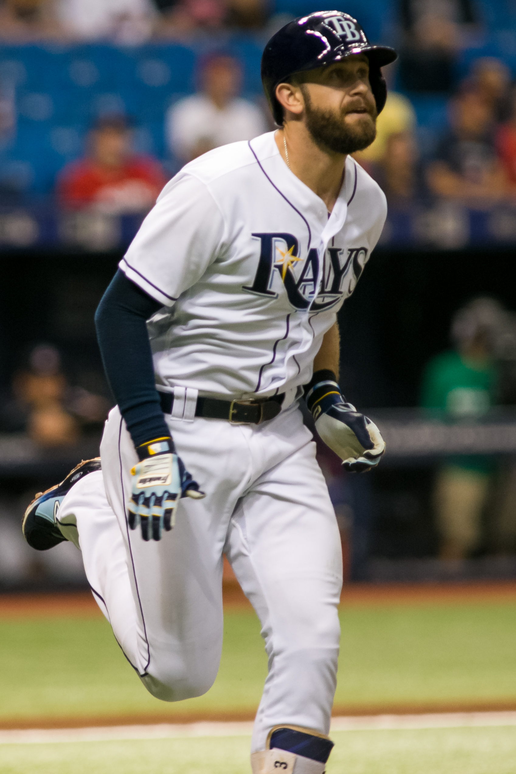 Longoria grew up as a Tampa Bay Ray./CARMEN MANDATO