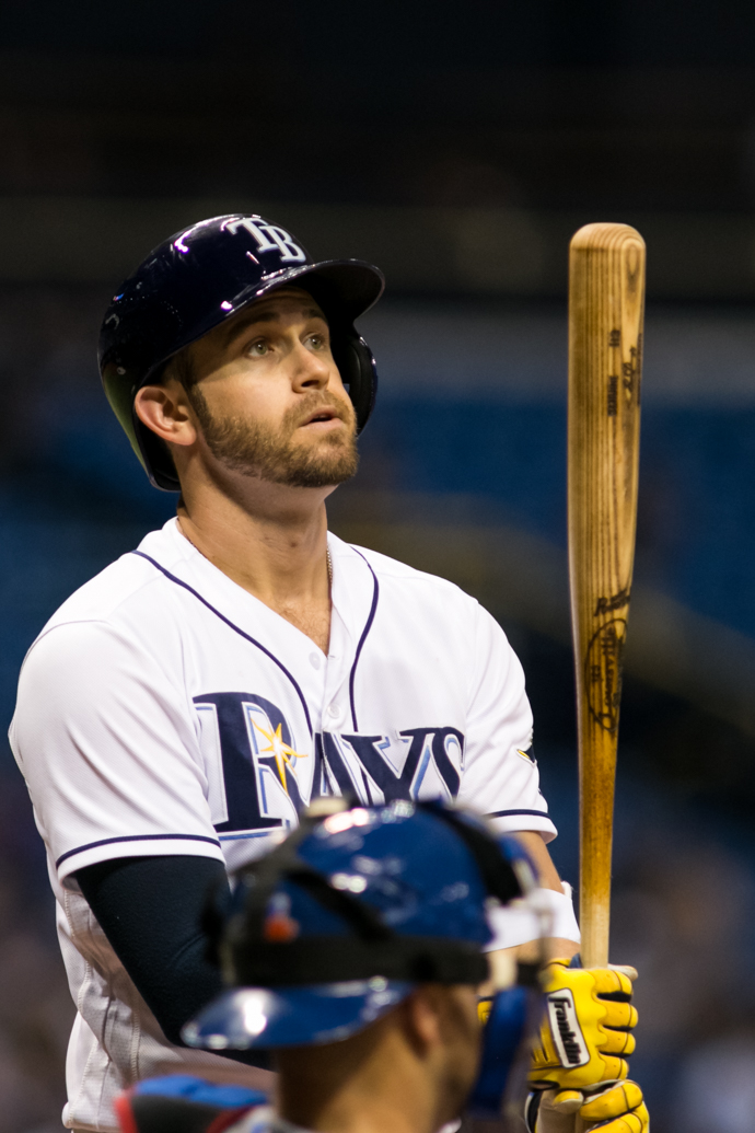 Longoria hit his first homer since Aug. 1./CARMEN MANDATO