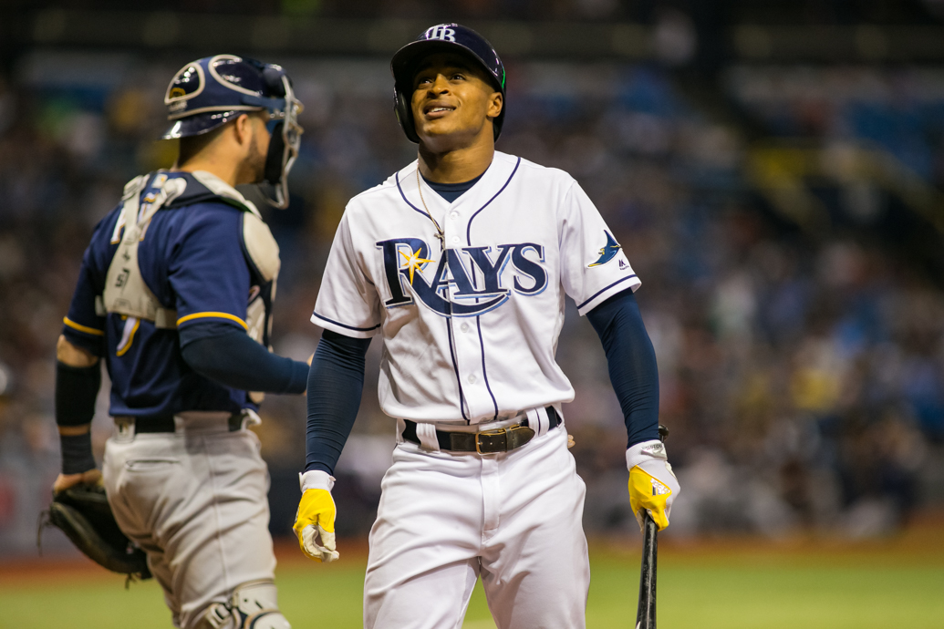 Mallex Smith had two hits for the Rays./CARMEN MANDATO