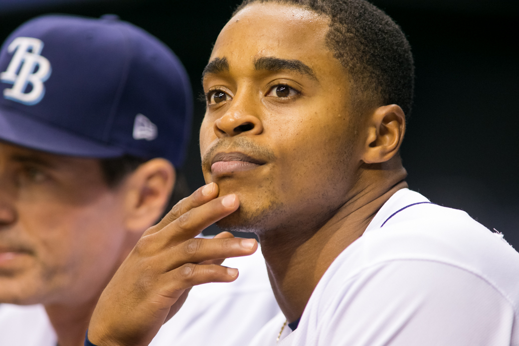 Mallex Smith had a homer pop out of his glove./CARMEN MANDATO
