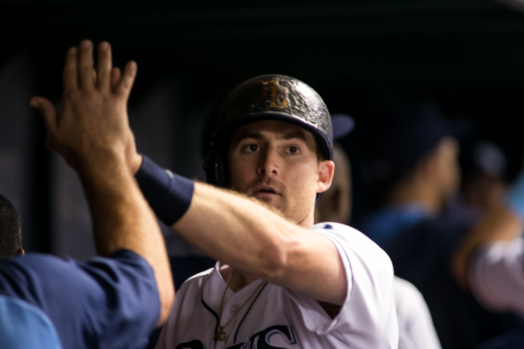 Miller hit a solo  home run for the Rays./CARMEN MANDATO