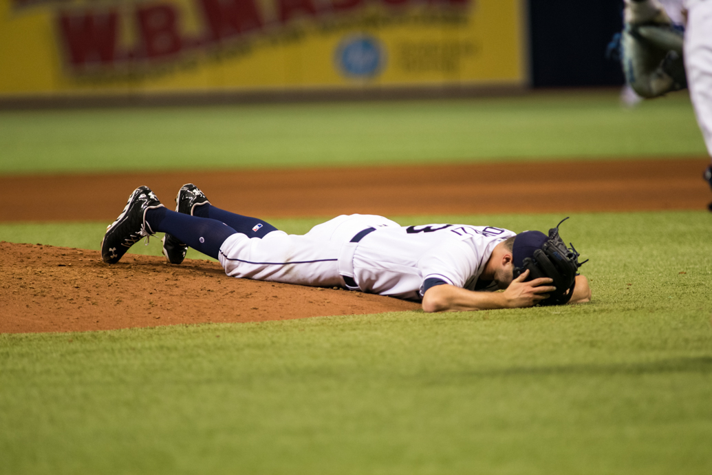 Odorizzi had allowed only one run before being hit by a line drive./CARMEN MANDATO
