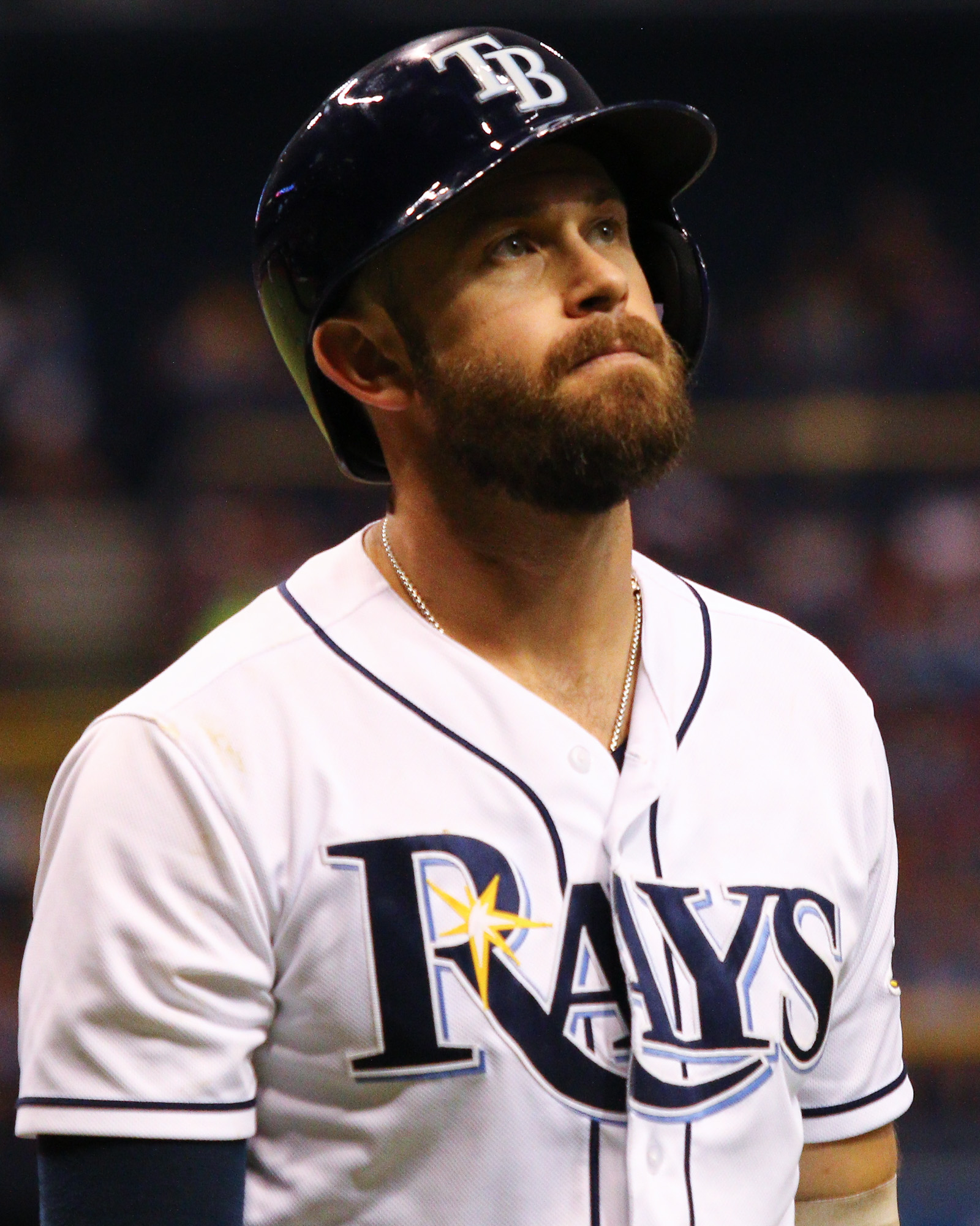 Longoria frustrated as the Rays get two hits./ANDREW J. KRAMER
