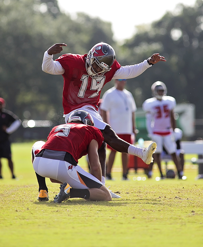 Aguayo had a good practice, but he needs to be better./CARMEN MANDATO
